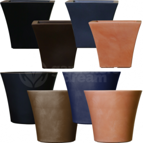 Cratere Round Square Flower Pot In Various Colours Shape & Sizes
