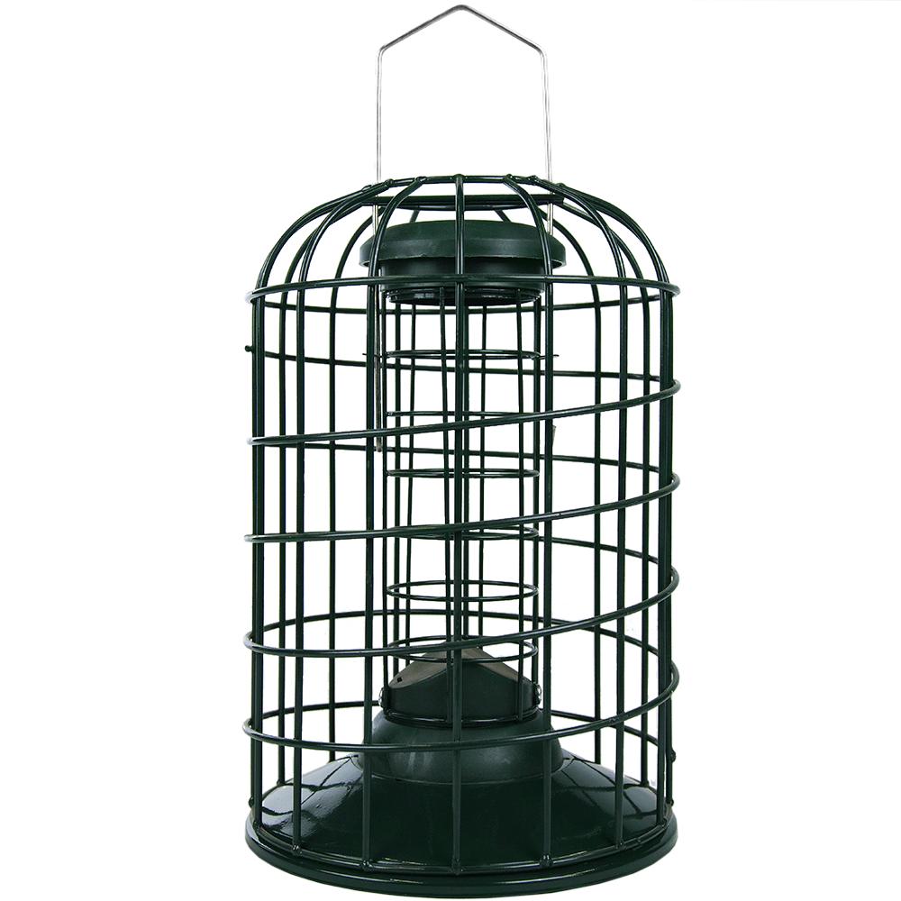 BIRD FEEDER FOR FAT BALLS METAL CAGED MINI LANTERN SQUIRREL RESISTANT WILD BIRDS