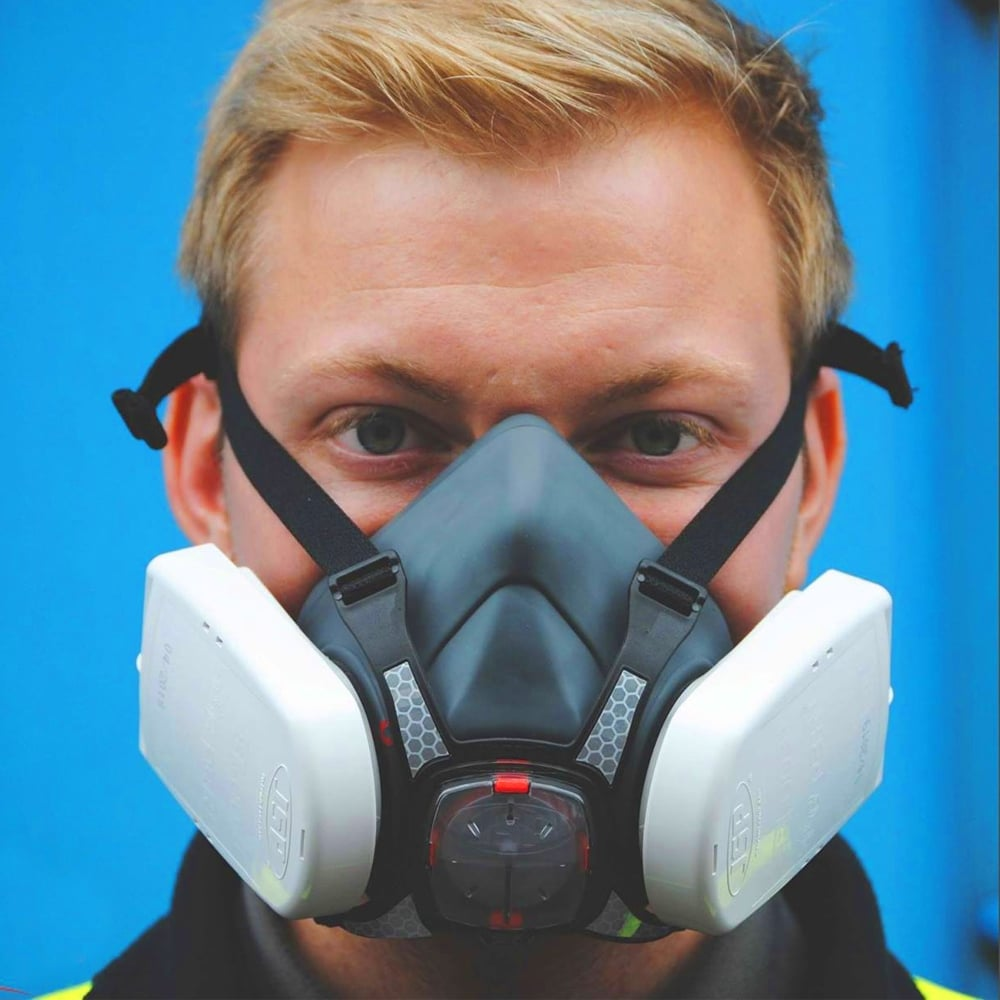 Jsp Force 8 Half Dust Mask W/ 2 Fitted P3 Typhoon Filters