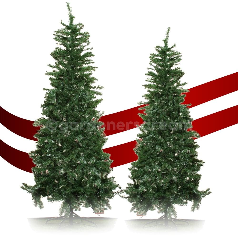 Artificial Christmas Trees Uk.Gardenersdream Lodge Slim Pine Artificial Christmas Trees In Various Sizes