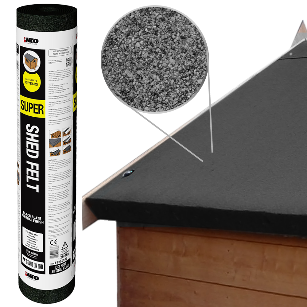 Iko Super Shed Felt Black 8m X 1m Outdoor Living From