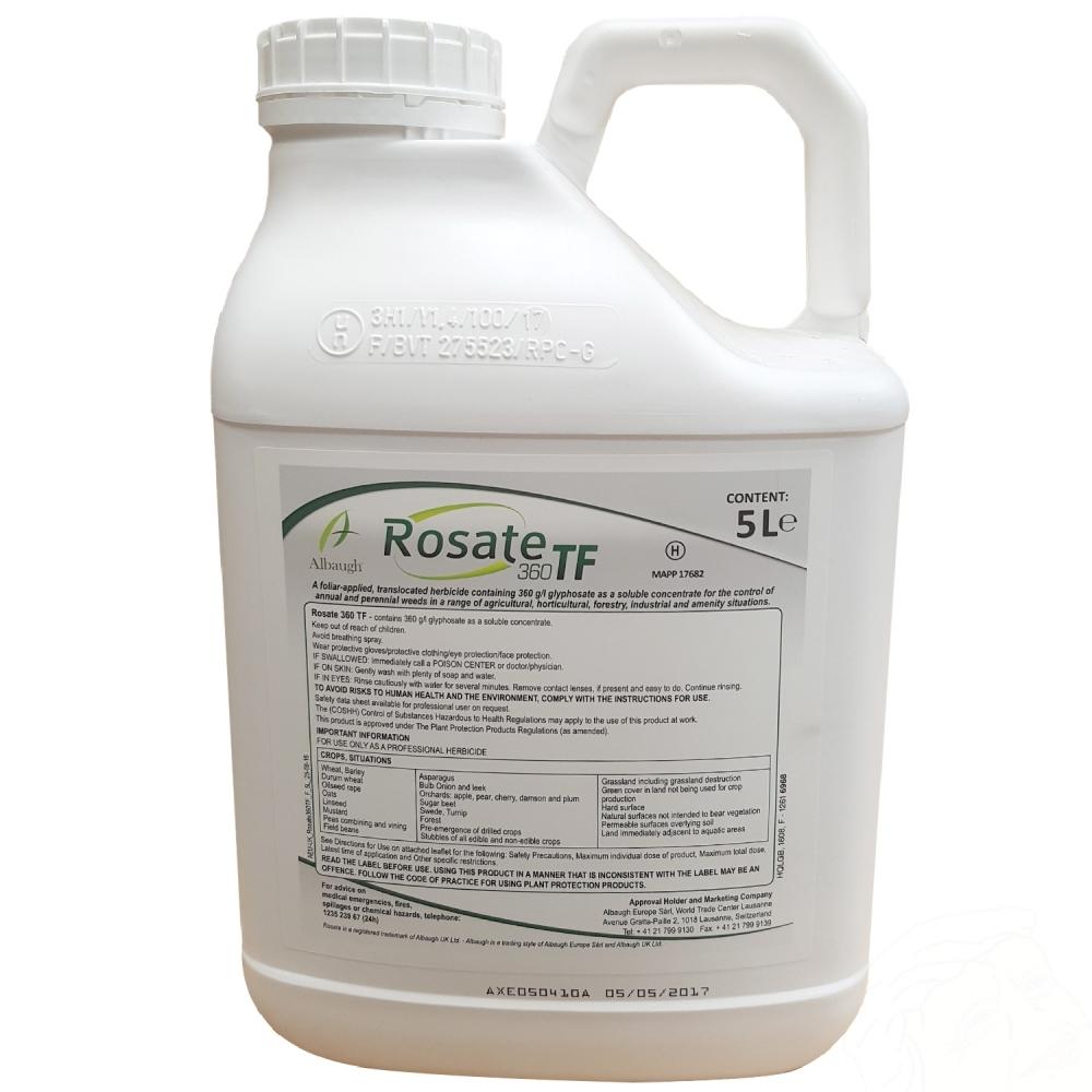 Rosate Rosate 360 Tf 5 Litre Glyphosate Weedkiller Gardenersdream